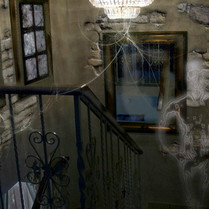The Ghost in the Old House Photo Manipulation
