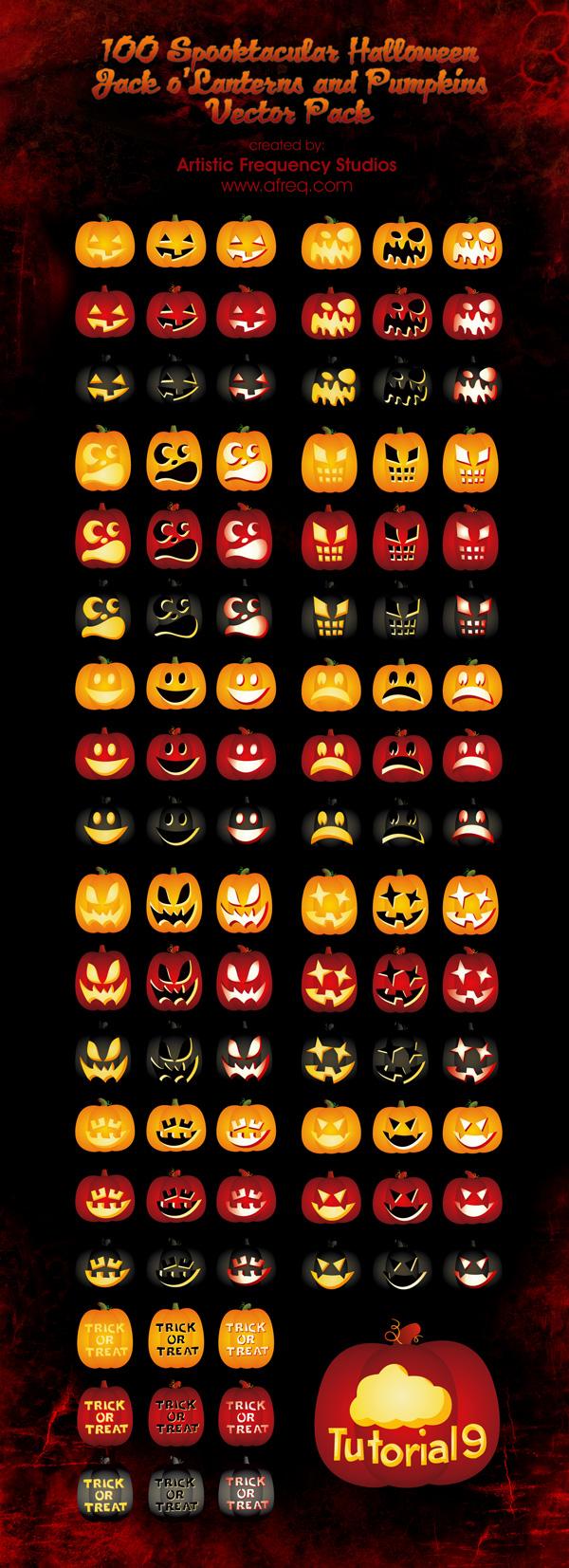 Spooktacular Pumpkin Vectors