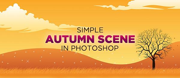 Create a Simple Autumn Scene in Photoshop