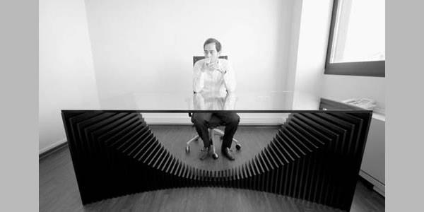 the mungle office desk is designed by the greek designer dimitrios tsigos - Designer Desks