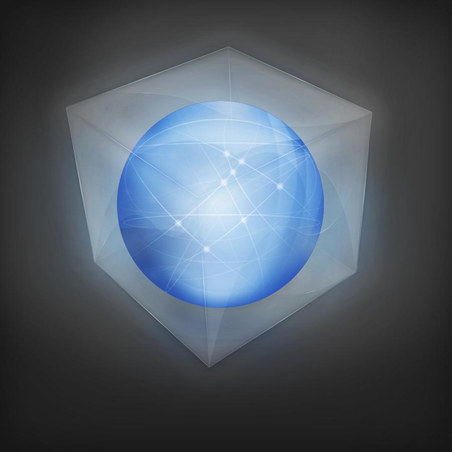 Стеклянный 3D логотип в Фотошопе
