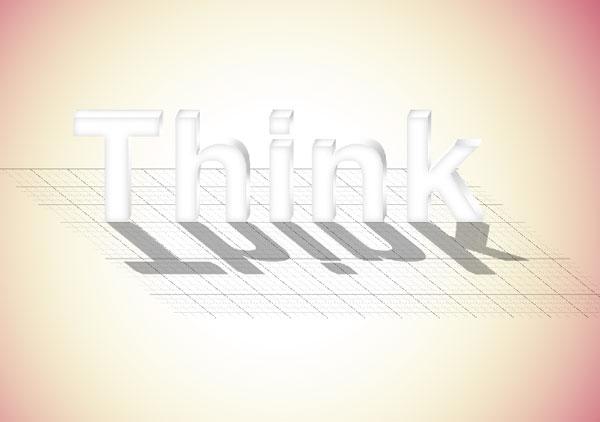 16 - Elegant 3D Text Effect in Photoshop