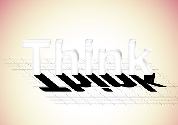 18 - Elegant 3D Text Effect in Photoshop