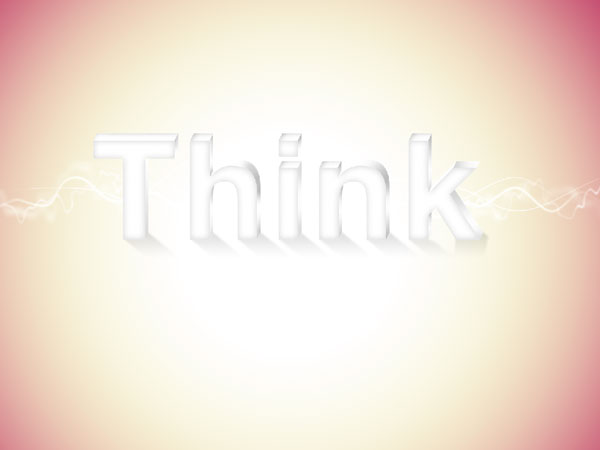 26 - Elegant 3D Text Effect in Photoshop
