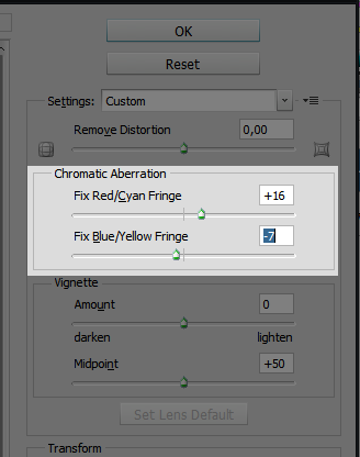 step2 - Correcting and Preventing Chromatic Aberration