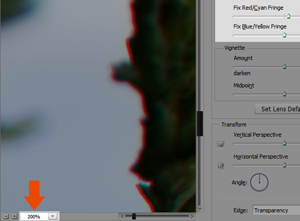 step3 - Correcting and Preventing Chromatic Aberration