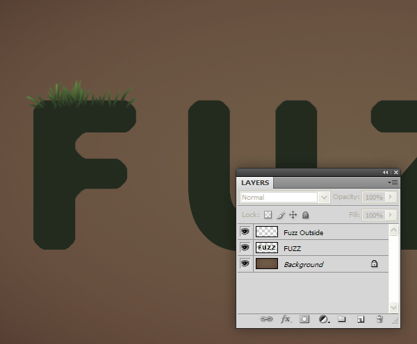 Fuzz step07 - Fuzz/Furry Text Effect (Works great as Grass!)