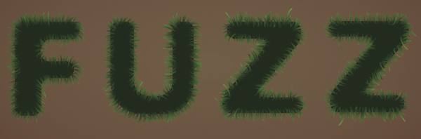 Fuzz step07a - Fuzz/Furry Text Effect (Works great as Grass!)