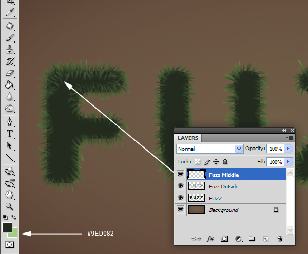 Fuzz step08 - Fuzz/Furry Text Effect (Works great as Grass!)
