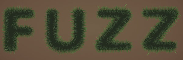 Fuzz step08a - Fuzz/Furry Text Effect (Works great as Grass!)