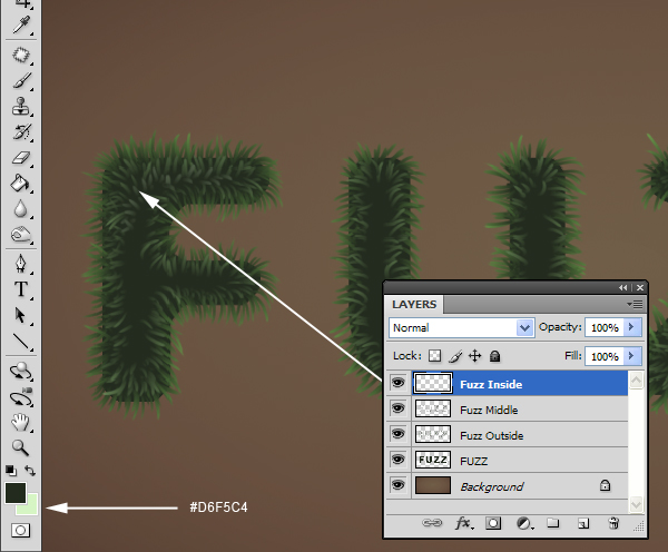 Fuzz step09 - Fuzz/Furry Text Effect (Works great as Grass!)