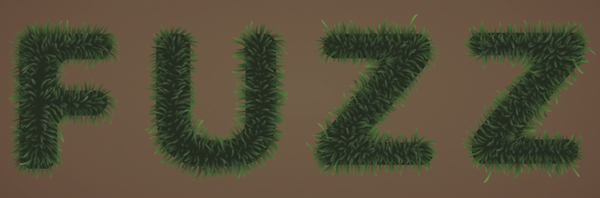 Fuzz step09a - Fuzz/Furry Text Effect (Works great as Grass!)