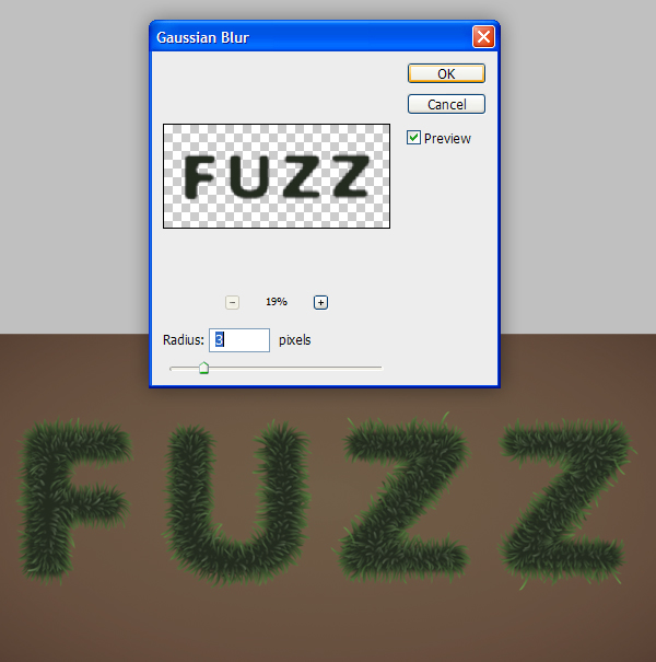 Fuzz step10 - Fuzz/Furry Text Effect (Works great as Grass!)