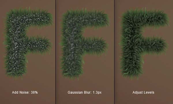 Fuzz step11 - Fuzz/Furry Text Effect (Works great as Grass!)