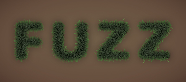 Fuzz step11b - Fuzz/Furry Text Effect (Works great as Grass!)