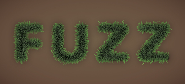 Fuzz step15 - Fuzz/Furry Text Effect (Works great as Grass!)
