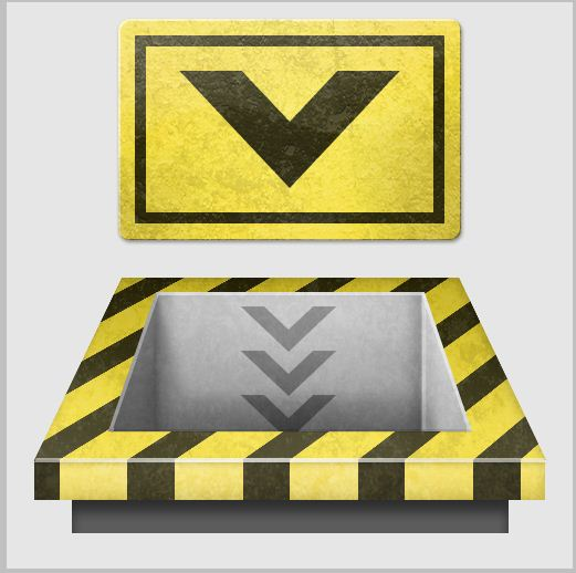 16 - Create a 3D Industrial-style Download Icon in Photoshop