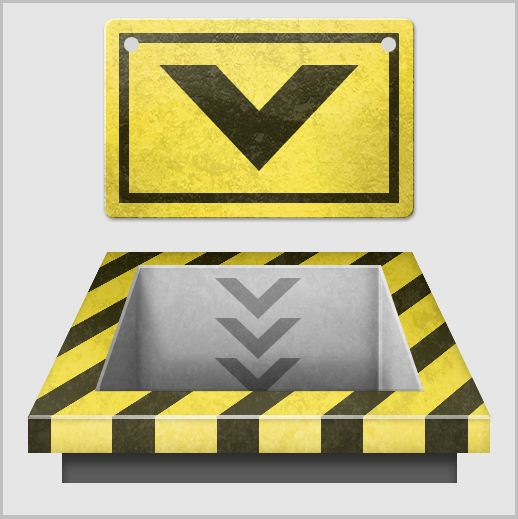 17a - Create a 3D Industrial-style Download Icon in Photoshop