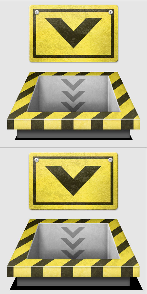 18a - Create a 3D Industrial-style Download Icon in Photoshop