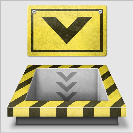 18b - Create a 3D Industrial-style Download Icon in Photoshop