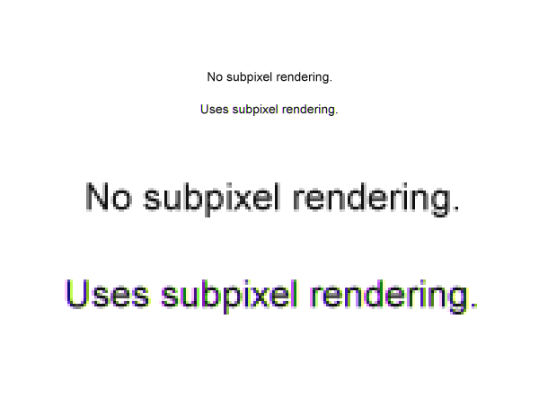 subpixel rendering example - Super Crisp Font Anti-Aliasing In Photoshop With Sub-Pixel Hinting