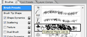 Choose this preset Photoshop Brush
